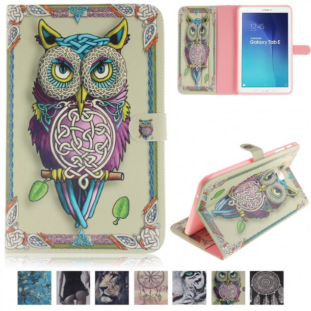 T560 Case-Ucover(TM) Creative Drawing Pattern Magnetic PU Leather Flip Stand Case