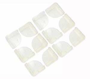 Cosmos ® 12 PCS Clear Soft Plastic Edge Protectors