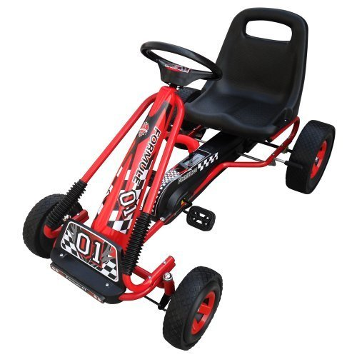 Red Pedal Go-Kart with Adjustable Seat by VidaXL