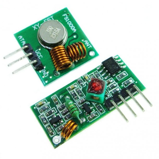 315Mhz RF transmitter and receiver link kit as one of the best Arduino RF Modules