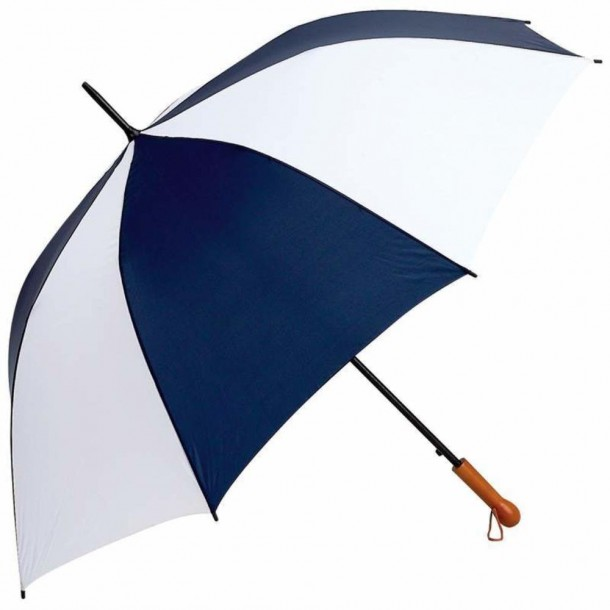 All-Weather Elite Series 60 inch Navy and White Auto Open Golf