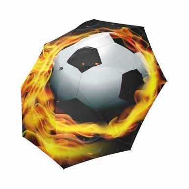 Soccer Football on Fire Custom Compact Folding Travel