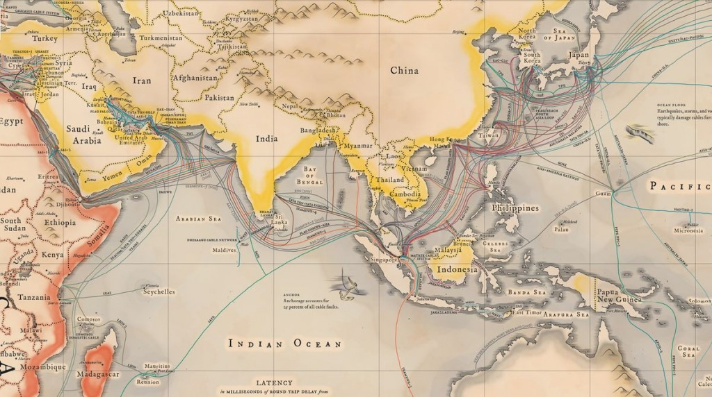 A Map Of Cables That Make Internet Possible 2