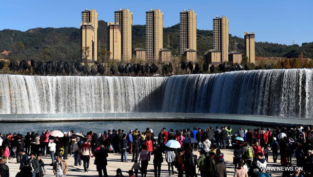 China Unveils The Latest Artificial Waterfall 3
