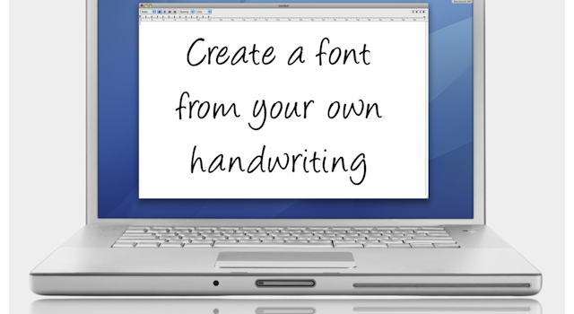 Font using own handwriting