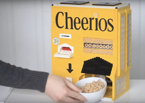 Lego Cheerios Machine Serves You Breakfast