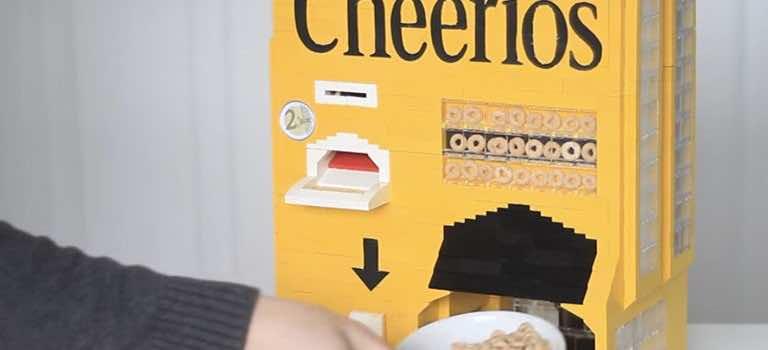 Lego Cheerios Machine Serves You Breakfast