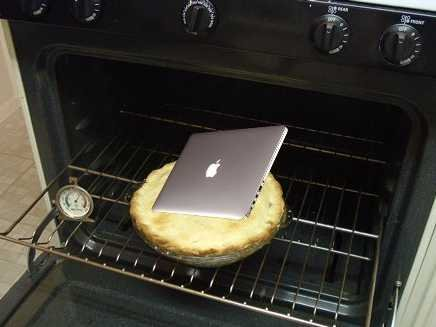 Macbook in oven