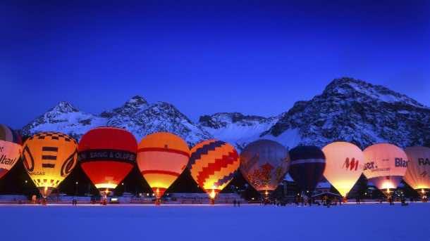 10815829, Hot-air balloon, balloon, at night, night, Arosa,