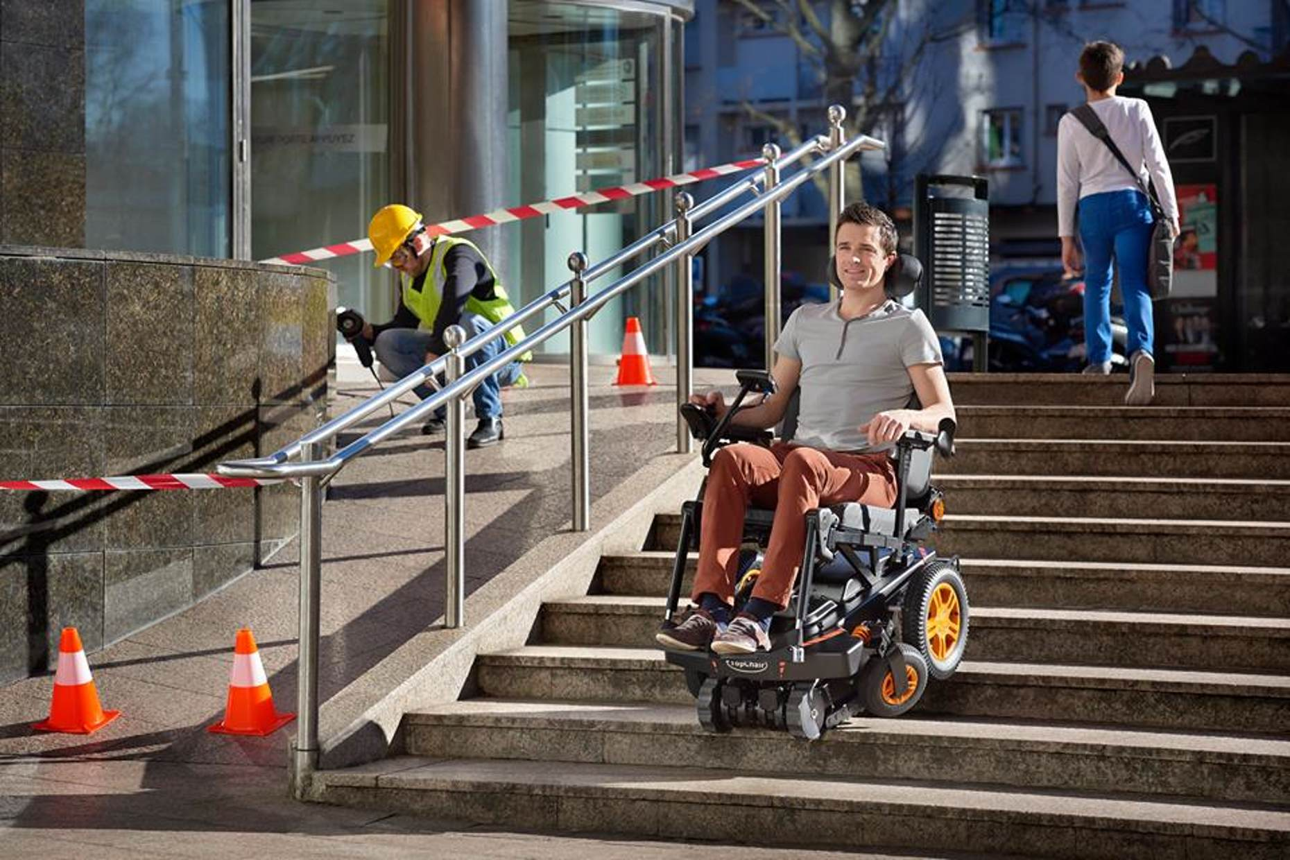 TopChair-S Wheelchair Can Easily Maneuver Stairs 10