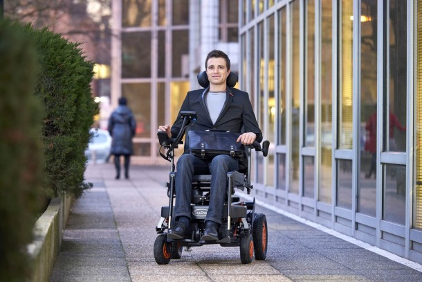 TopChair-S Wheelchair Can Easily Maneuver Stairs