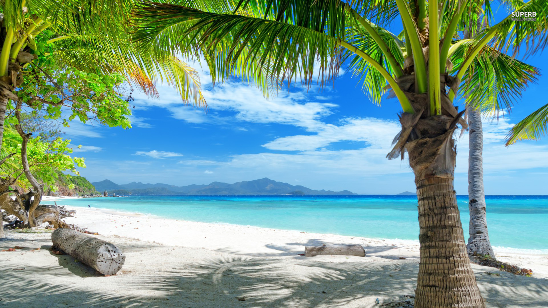 Screensaver Desert Island Android