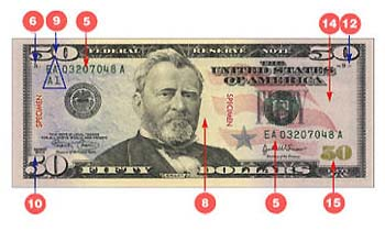 how to change 10 $ bill into 50 $