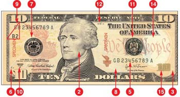 how to change 10 $ bill into 50 $3