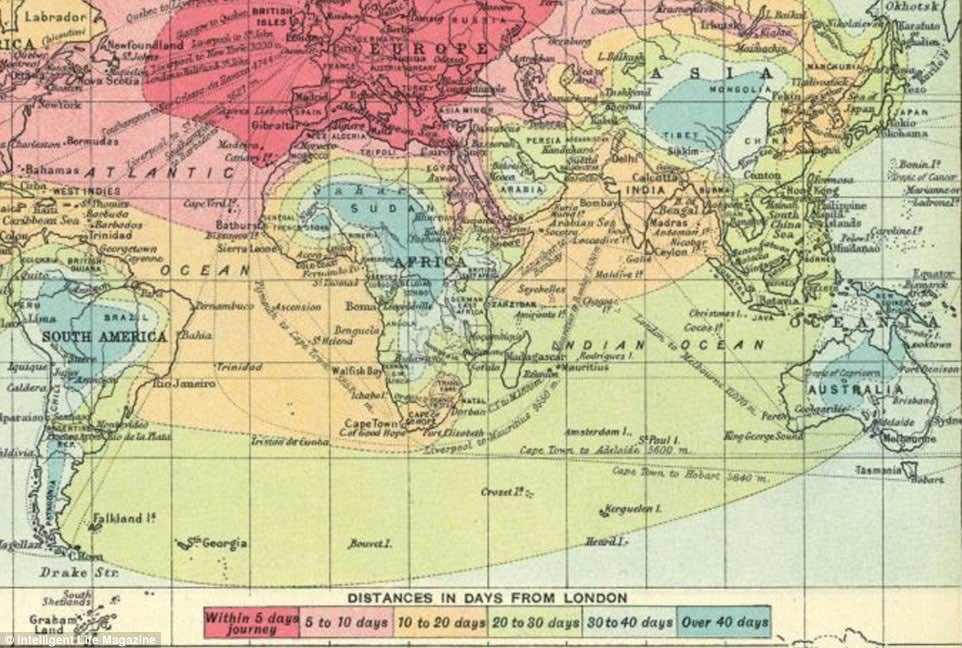 isochronic maps 1914 2016-