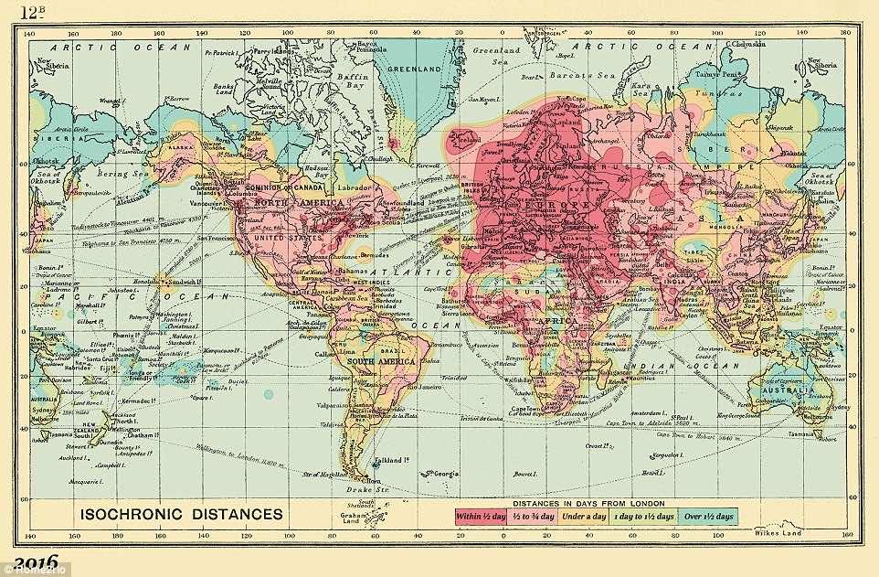 isochronic maps 1914 2016-4