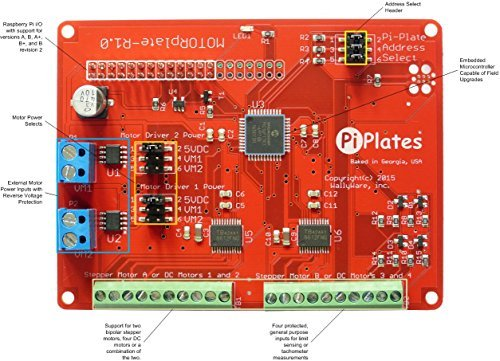 Raspberry Pi Motor Controller Pi-Plate