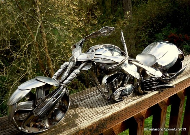 Bent Spoons And Art Join Together To Bring You These Motorcycle Sculptures 12