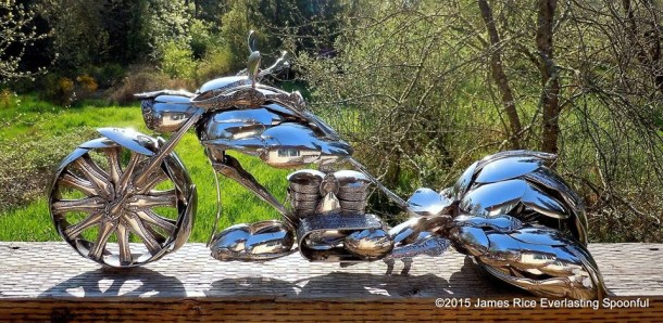 Bent Spoons And Art Join Together To Bring You These Motorcycle Sculptures 3