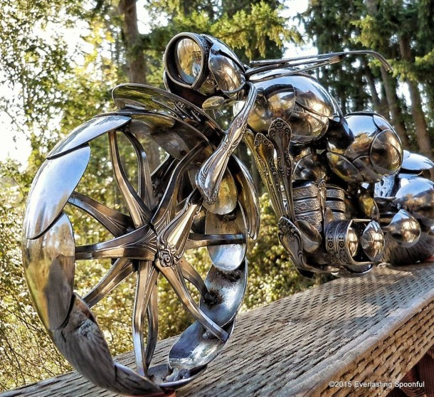 Bent Spoons And Art Join Together To Bring You These Motorcycle Sculptures 4