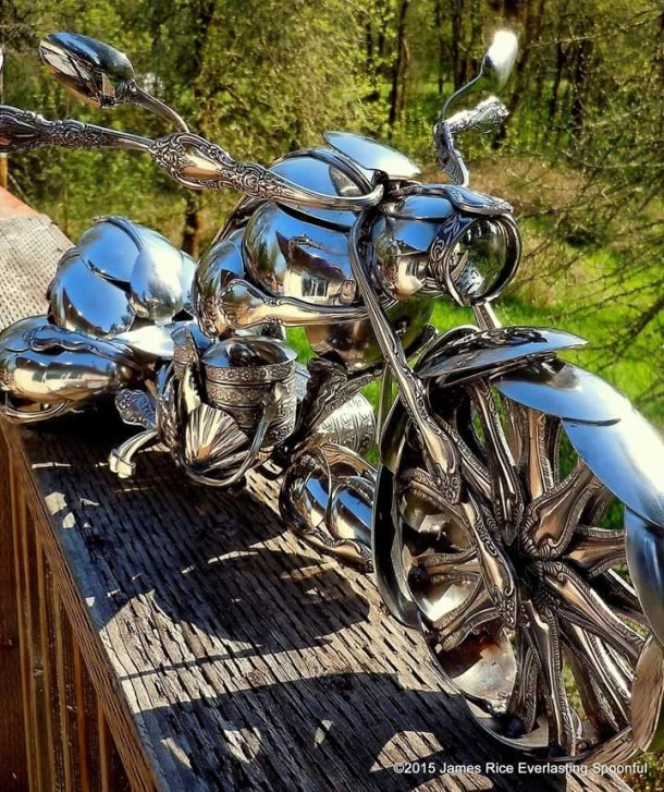 Bent Spoons And Art Join Together To Bring You These Motorcycle Sculptures 6