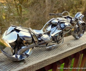 Bent Spoons And Art Join Together To Bring You These Motorcycle Sculptures 7