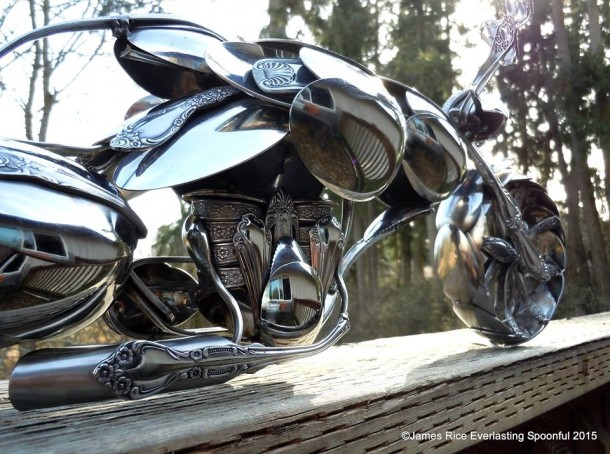 Bent Spoons And Art Join Together To Bring You These Motorcycle Sculptures 8