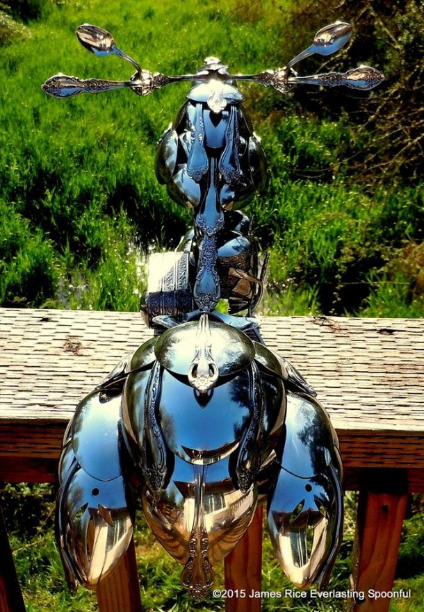 Bent Spoons And Art Join Together To Bring You These Motorcycle Sculptures 9