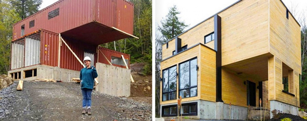 Canadian Woman Built A Dream House Using Shipping Containers