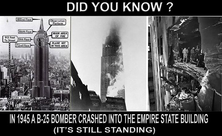 You Won't Believe But A B-25 Bomber Flew Into The Empire State Building. Here's The Story