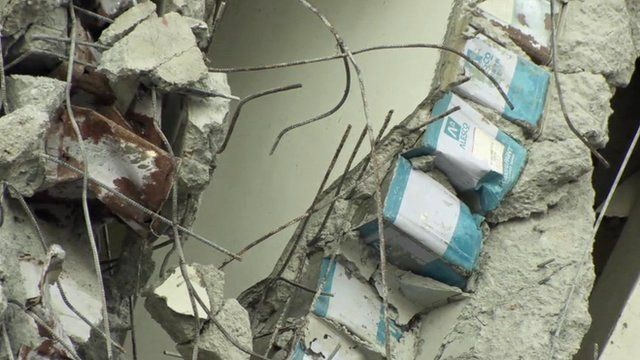 Evidence Of Shoddy Construction At Taiwan's Earthquake-Struck Building 3