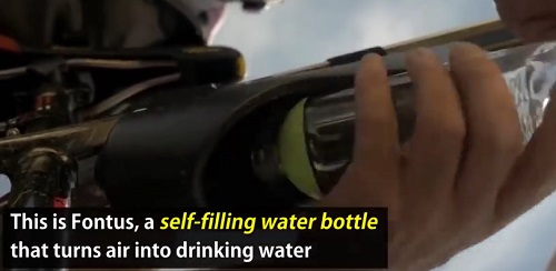 Fontus Is A Self-Filling Water Bottle That Turns Air Into Potable Water 3