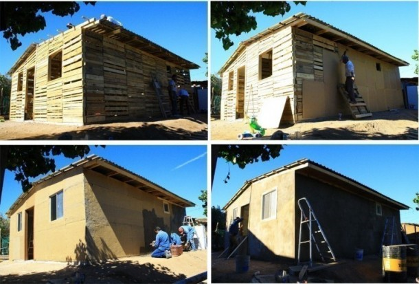 Here's How You Can Build A House Using Pallets
