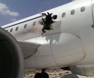 Hole in aircraft