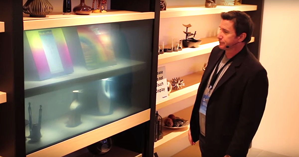 Panasonic's New TV Has A Transparent Screen And Looks Straight Out Of Future