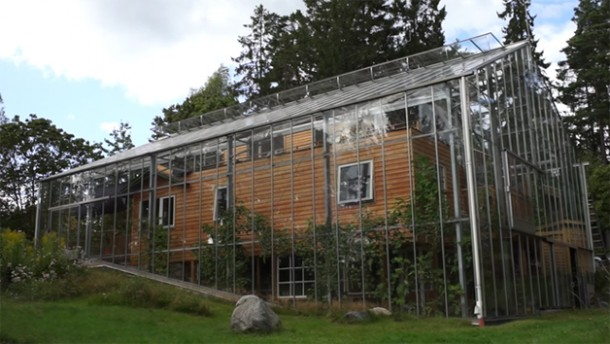 Swedish Couple Has A Greenhouse Surrounding Their House