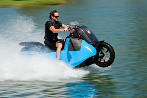 This Motorcycle Requires 5 Seconds Before It Is Able To Scale Water