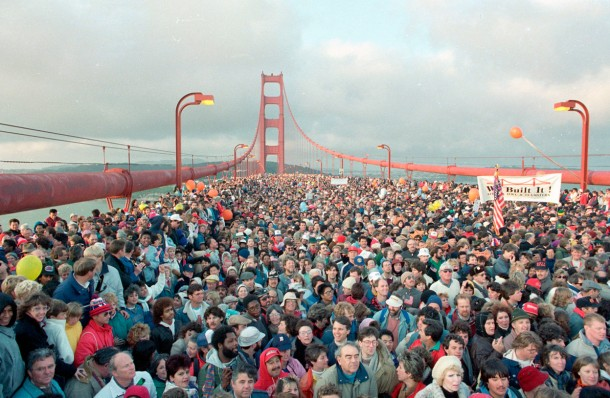 You Won't Believe But A Crowd Of People Almost Destroyed Golden Gate Bridge On It's 50th Anniversary 2