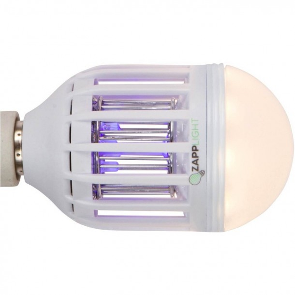 ZappLight Bulb Can Transform Any Lamp Into A Mean Lean Bug Killing Machine