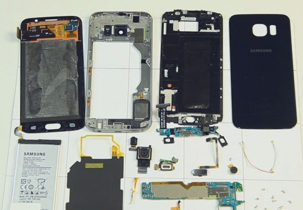 galaxy S7 disassembled
