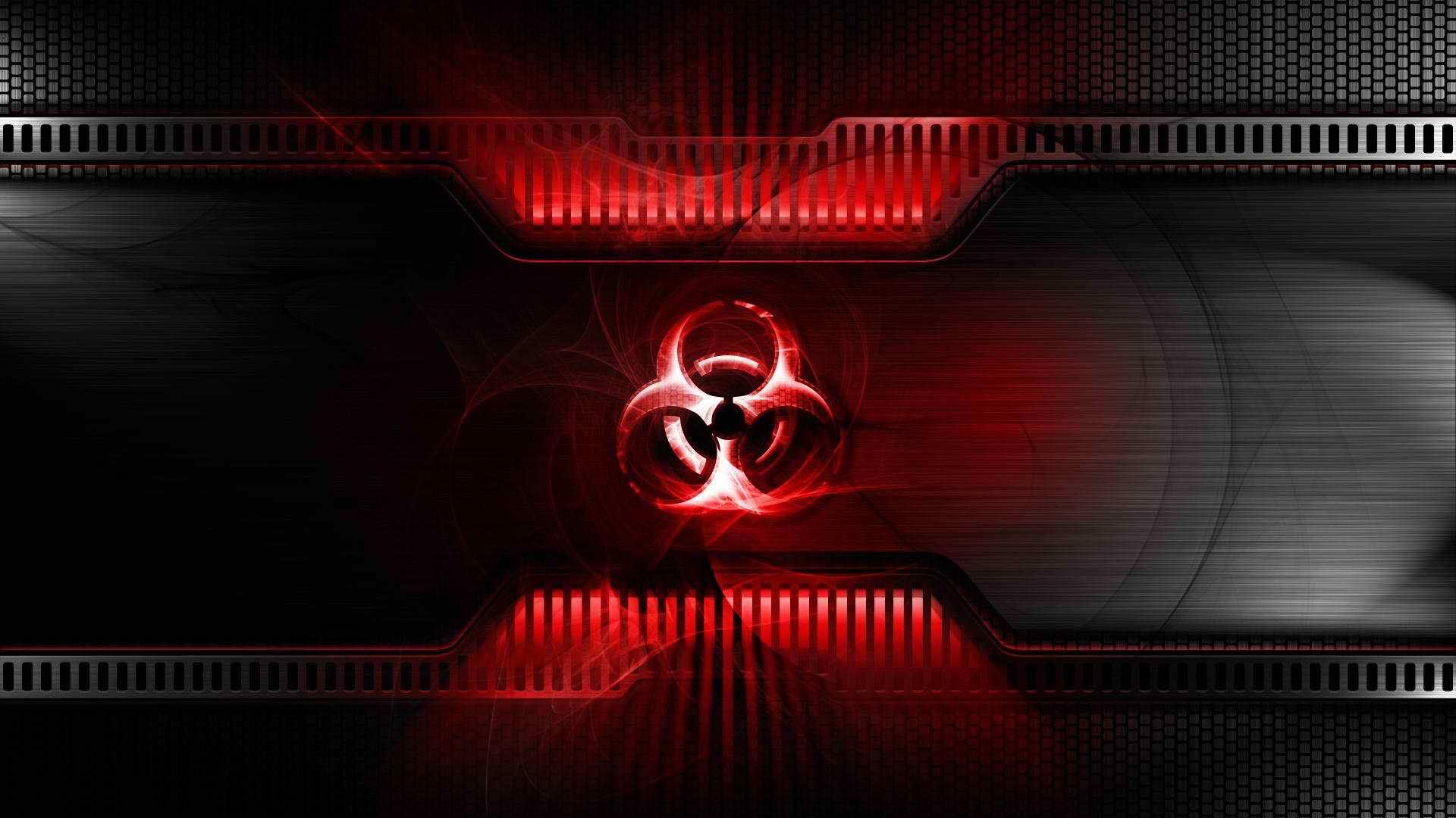 Neon Red Aesthetic Desktop Wallpaper