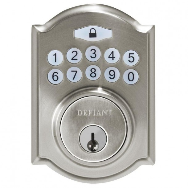 defiant electronic keypad deadbolt manual kazinobands. Black Bedroom Furniture Sets. Home Design Ideas