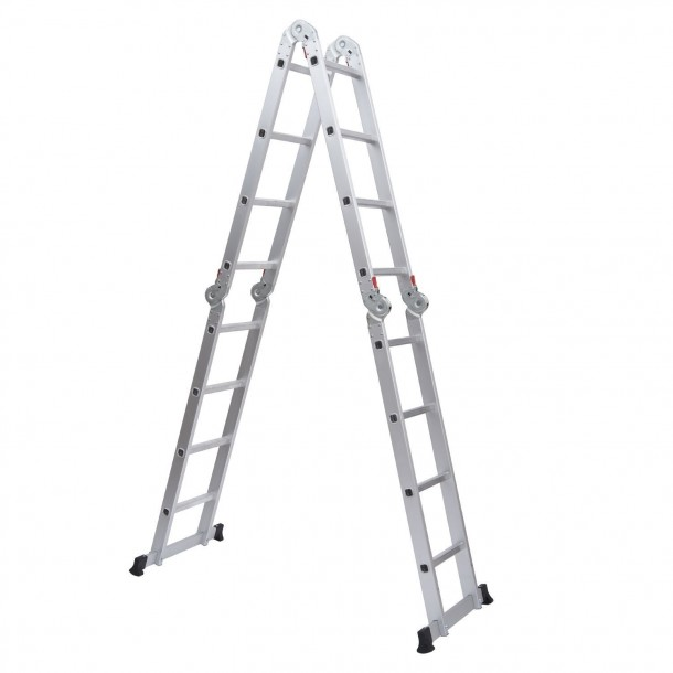 185 ft Aluminum Multi-Position Folding Ladder