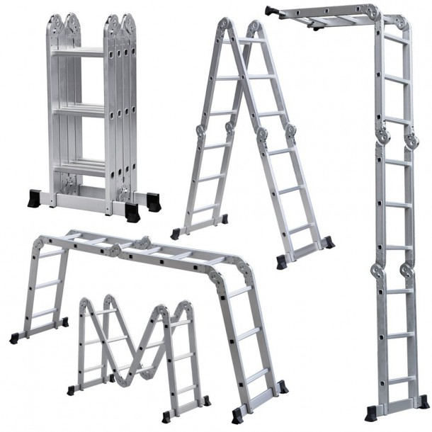 Light Weight Multi-Purpose 12' Aluminum Folding Ladders