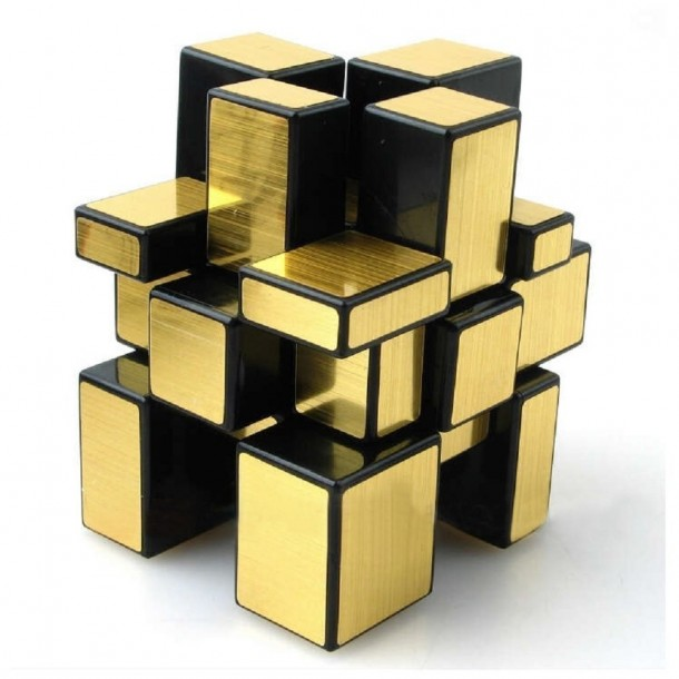 ShengShou 3 x 3 Gold Mirror Rubiks Cube Puzzles