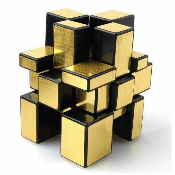 ShengShou 3 x 3 Gold Mirror Rubiks Cube Puzzles