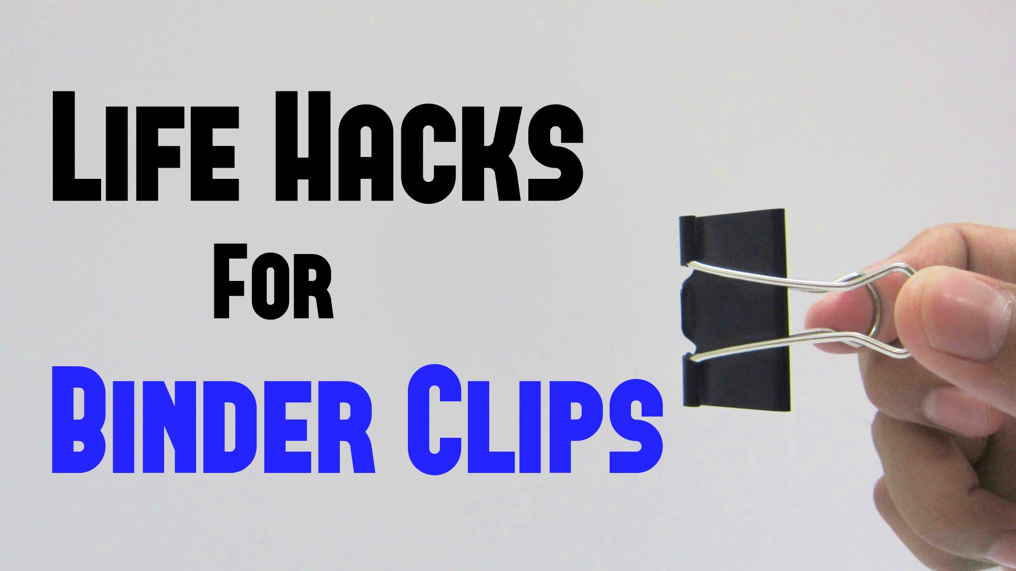 10 Wonderful Binder Clips Life Hacks