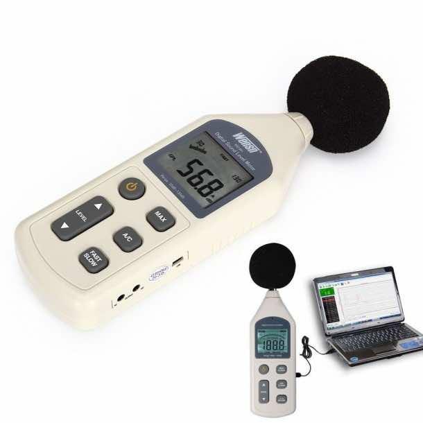 T Tocas® Professional Digital Audio Sound Pressure Level Meter