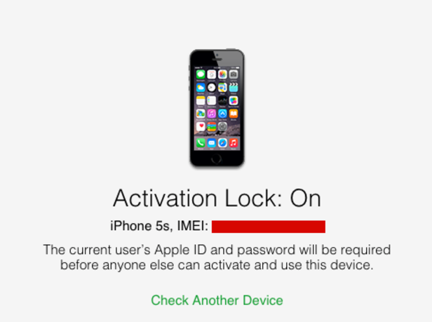 Activation lock iphone