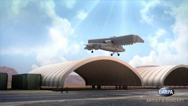 DARPA's VTOL Experimental Plane Will Begin Tests In 2018